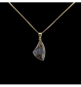 Gelb gold Halskette opal