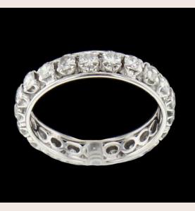 Eternity Ring White gold 21 diamonds 1.26 carats