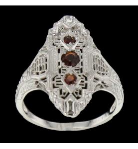 Vintage ruby white gold ring