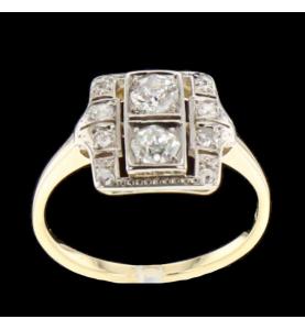 Anello con diamanti in oro...