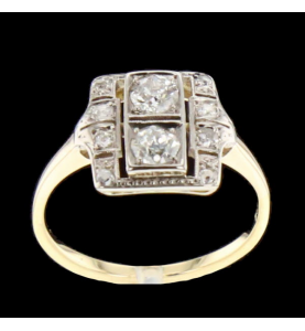 Yellow gold diamond ring...