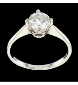 Ring White Gold 0.90 carats T 53