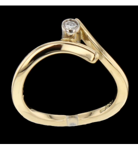 Solitaire Or jaune 0.06 carats