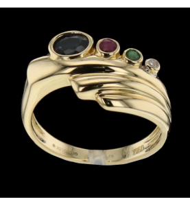 Rubin Saphir Gold Ring