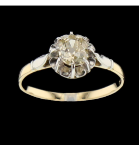 Solitaire two gold 0.60 carats