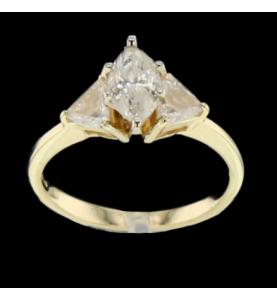 Yellow gold and diamonds