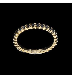 Sapphire yellow gold Eternity Ring