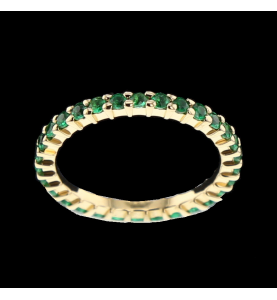Eternity Ring Yellow Gold Emeralds