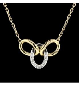 Necklace 2 gold diamonds