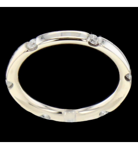Bague Or gris 6 diamants