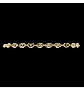 Bracelet Or jaune grain de...
