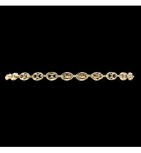 Yellow Gold Coffee Bean Bracelet