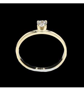 Solitaire Gelbgold Diamant 0.15 Karat