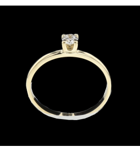 Solitaire Yellow Gold Diamond 0.15 carats