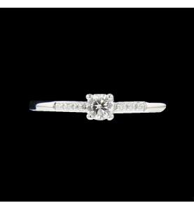 Bague or gris diamants 0.22...