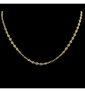 NECKLACE MESH COFFEE BEAN YELLOW GOLD