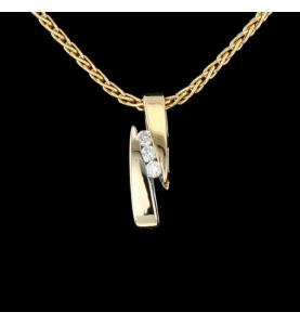 Halskette Gelbgold Diamanten