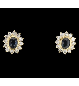 Buckles Yellow Gold Sapphires and diamonds