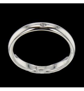 Alliance Or gris Diamant