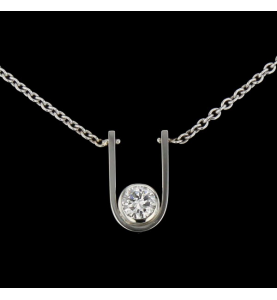 Necklace Gold gray diamond 0.75 carats. Necklace Gold gray diamond 0.75 carats.