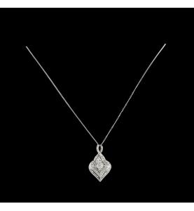 Pendant white gold diamonds 0.96 carats