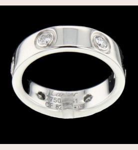 Cartier Love white gold 6 Diamonds