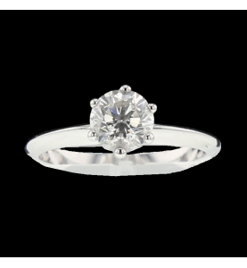 Solitaire in white gold 0.80 carats