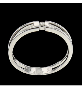 solitaire 750 white gold and diamond