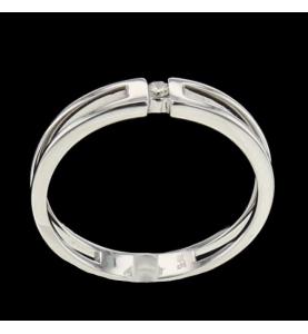 Solitaire gold grau 750 und Diamant
