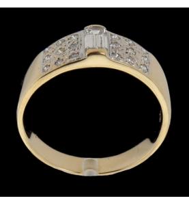 Ring aus Gelbgold Diamanten