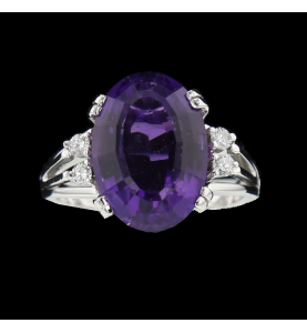 Amethyst grey gold and...