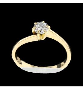 Solitärer Ring Gelbgold