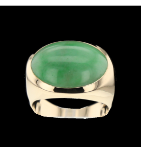 YELLOW GOLD AND NEPHRITE RING