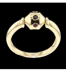 Gelbgold Diamant Rubin...