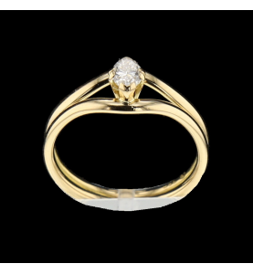 Solitaire ring size marquise yellow gold