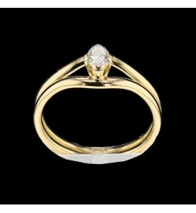 Solitärer Ring Größe Marquise Gelbgold