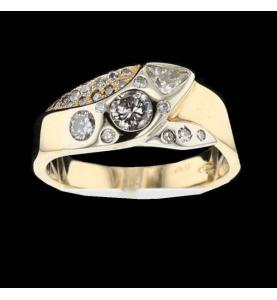 Ring 2 Gold und Diamanten