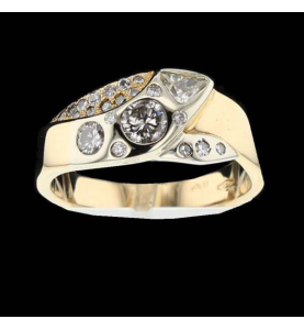 Ring 2 Golds and Diamonds