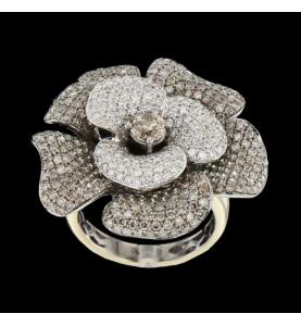 Blumenring Diamanten