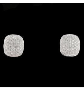 Boucles pavées 3.52 Carats