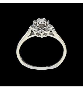 DIAMOND GREY GOLD RING