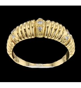 Ring gelbgold und diamant