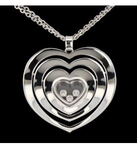 Chopard Anhänger Halskette Happy Spirit Herz