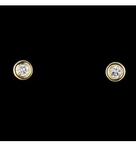 Ear nails Yellow gold 0.23 carats