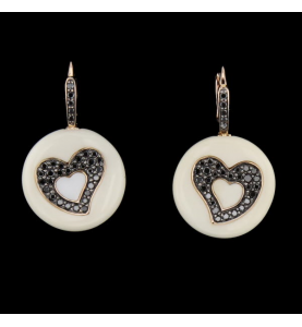 Boucles d'oreilles Chimento cœur or rose
