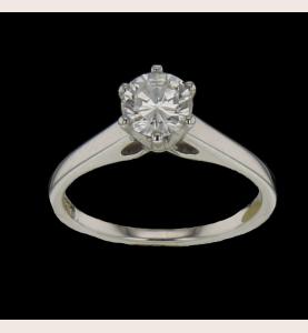 Solitärer Ring aus Graugold 0.71 Karat
