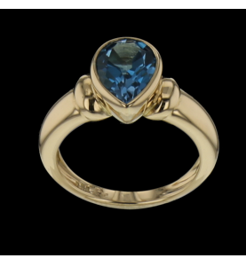 Ring in yellow gold 750