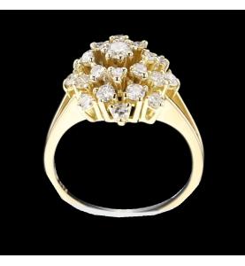 Ring Gelbgold und Diamanten