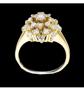 Yellow Gold ring and diamonds