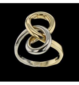 RING 2 INEINANDER VERSCHLUNGENE GOLD